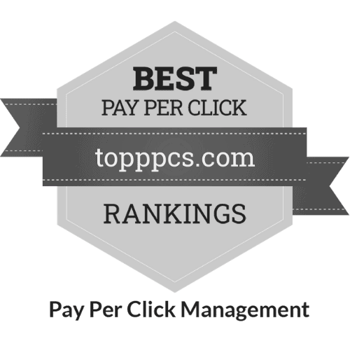 Pay Per Click Management 2020 Badge 500x500 Greyscale